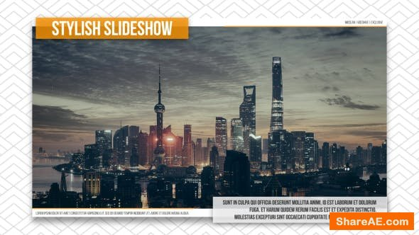 Videohive Stylish Slideshow 15074674