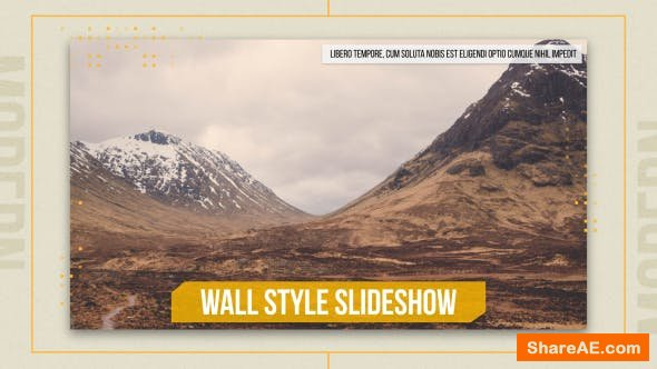 Videohive Wall Style Slideshow