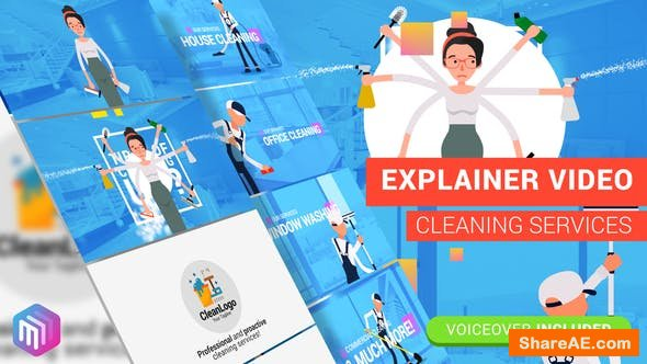 Videohive Edit Explainer Video | Cleaning Services