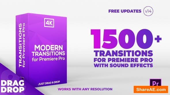 40+ Video Effects & Transitions - Adobe Premiere Pro Preset Pack