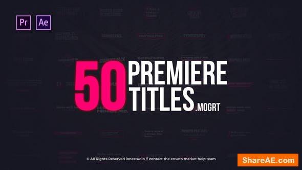 Videohive Modern Minimal Titles