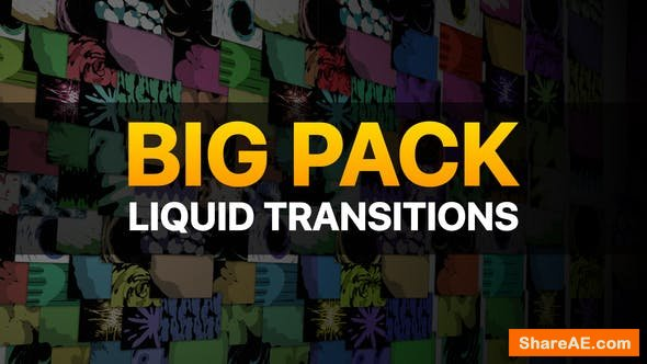 Videohive Liquid Transitions Big Pack