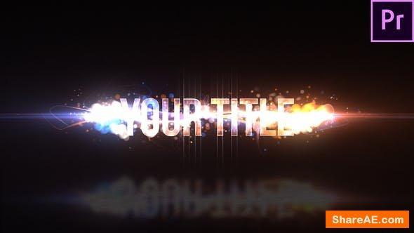 Videohive Particle Swish Title - Premiere Pro