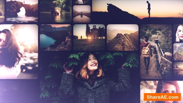 Videohive Clean and Smooth Mosaic Slideshow