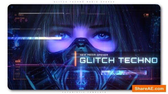 Videohive Glitch Techno Media Opener