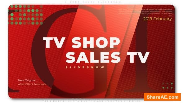 Videohive TV Shop Sales Slideshow