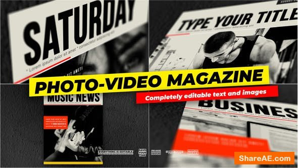 Videohive Photo and Video - Magazine Cover