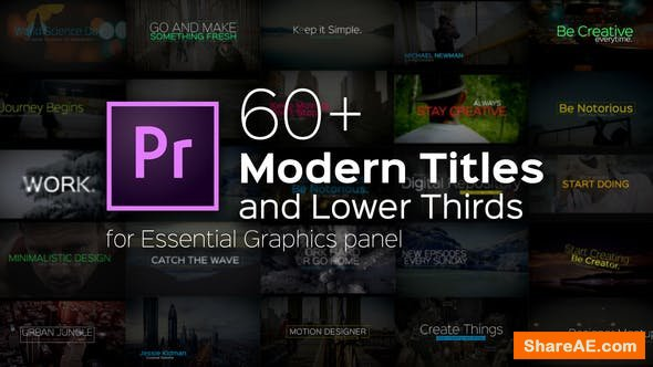 Videohive Modern Titles and Lower Thirds for Premiere Pro
