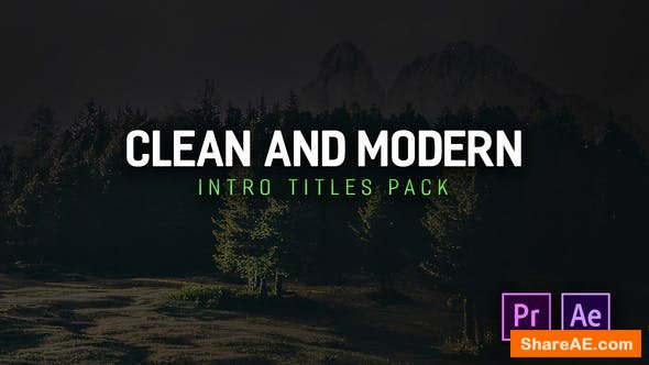 Videohive Modern Intro Titles Pack for Premiere Pro