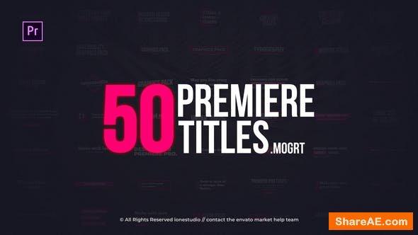 Videohive Minimal Titles | Essential Graphics - Premiere Pro