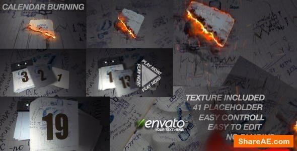 Videohive Calendar Burn