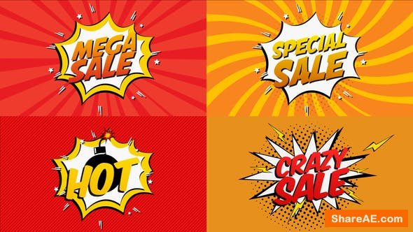 Videohive Comic Book Sale Cartoon
