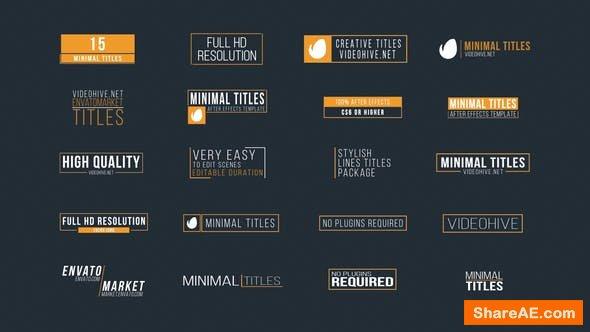 Videohive 20 Minimal Titles - Premiere Pro