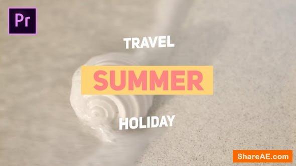 Videohive Summer Travel - Premiere Pro