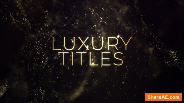 Videohive Luxury Gold Titles