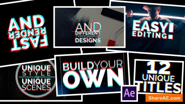 Videohive Title Animations Glitch
