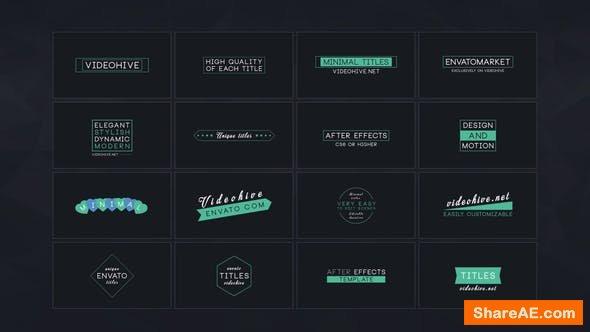 Videohive 16 Minimal Titles - Premiere