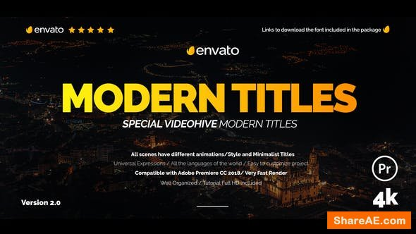 Videohive Modern Promo Titles for Premiere