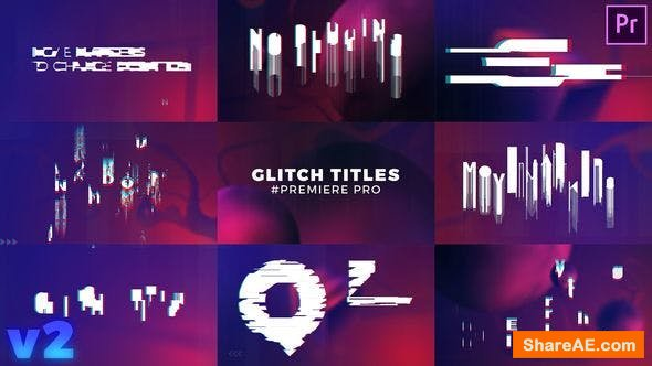 Videohive Glitch Titles Sequence Mogrt - Premiere Pro