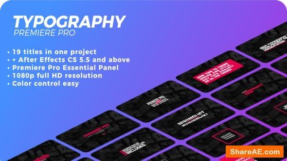Videohive Typography 21627117 - Premiere Pro