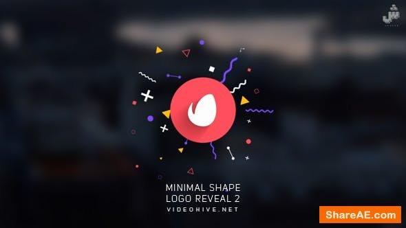 Videohive Minimal Shape Logo Reveal 2