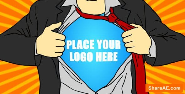 Videohive Superhero Cartoon Logo