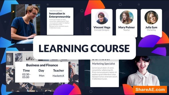 Videohive Learning Course Promo Package