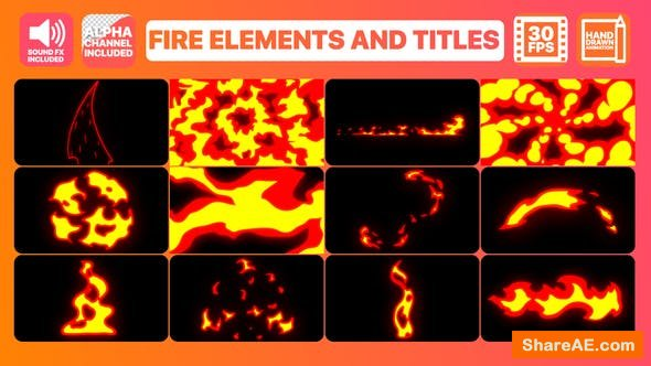 Videohive Fire Elements And Titles