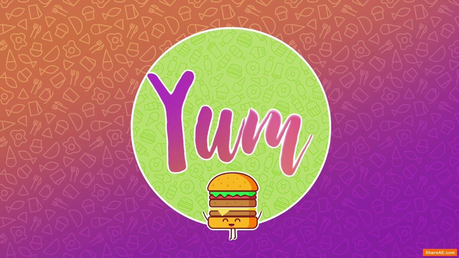 Yum - 100+ Assets for Food Videos - Motion Graphic (RocketStock)