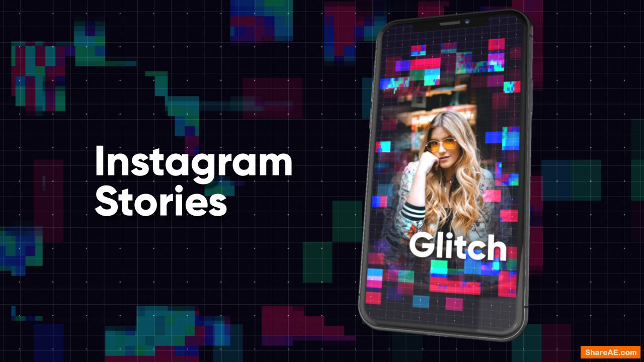 Instagram Stories: Glitch (Motion Array)