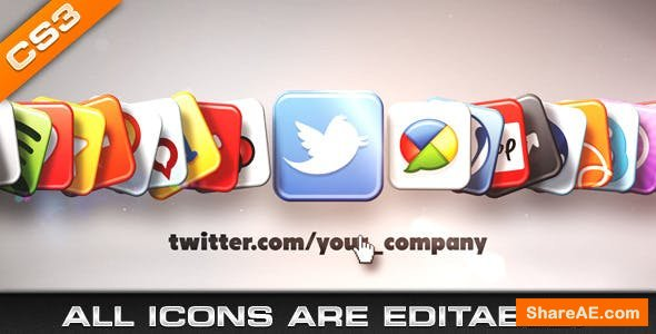 Videohive Media & Social Networks Icons