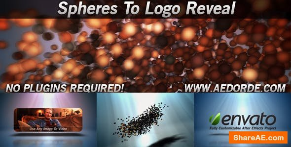Videohive Spheres To Logo Reveal