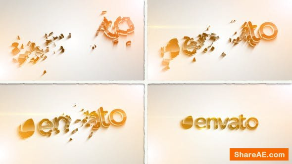 Videohive Clean 3D Logo_Parts