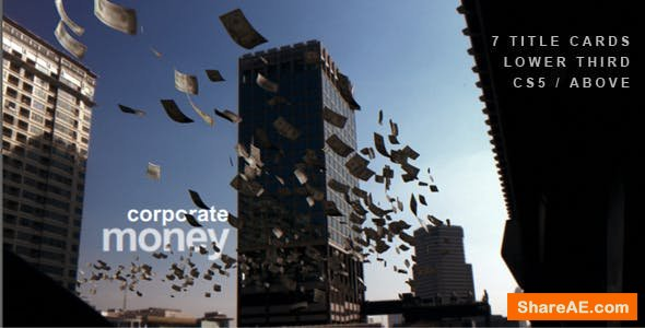 Videohive Corporate Money - Cash Flying Between Skyscrapers
