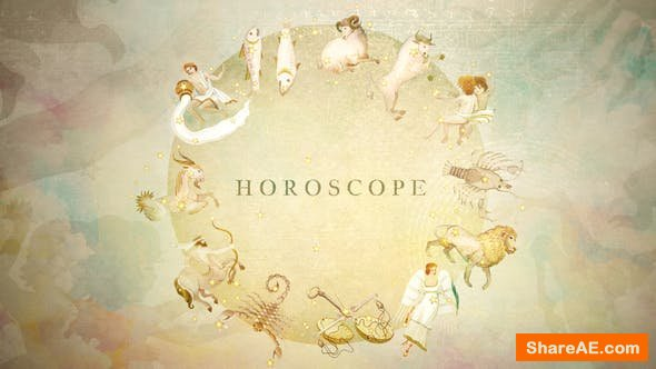 Videohive Watercolor Horoscope and Title Opener