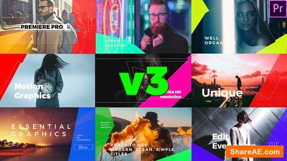 Videohive Simple Mogrt Graphics Titles v3 - Premiere Pro