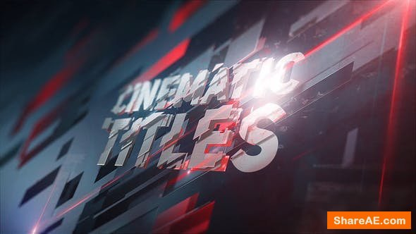 Videohive 3D Plates Titles