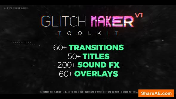 Videohive Glitchmaker Toolkit: 350+ Elements