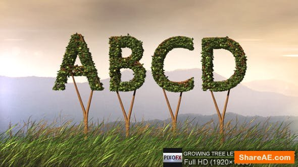 Videohive Growing Tree Letters And Logo Pack