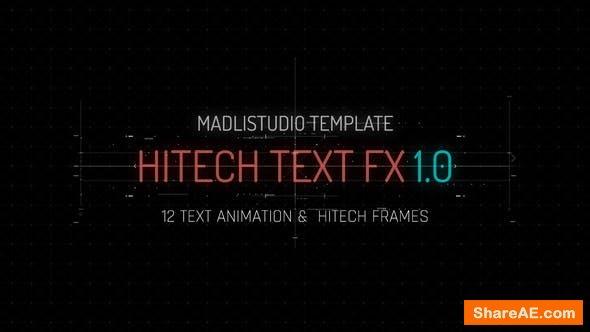 Videohive Hitech Text FX