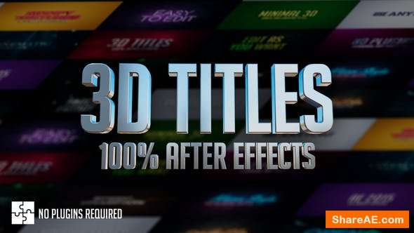 Videohive 3D Titles - No Plugins