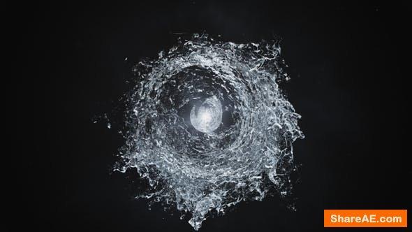 Videohive Water Swirls Logo Reveal