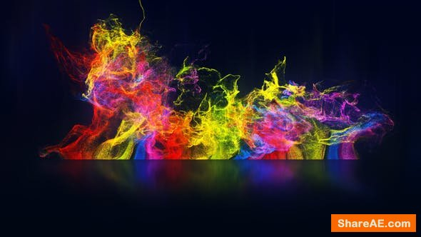 Videohive Rainbow Particles Logo Reveal