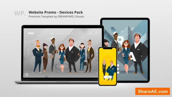Videohive Website Promo - Devices Mock-up Pack