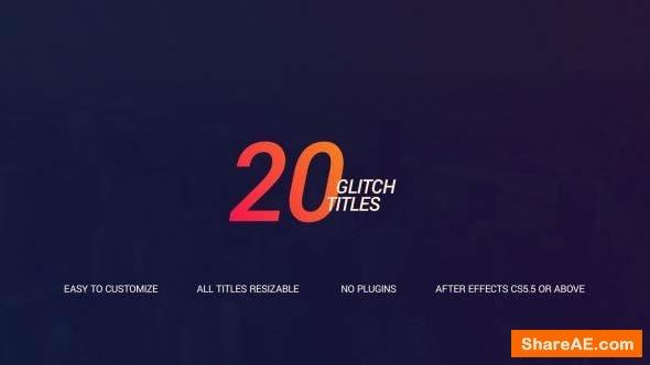 Videohive Glitch Titles 18282475