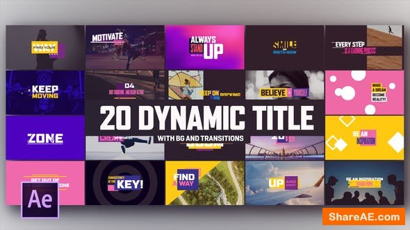 Videohive Dynamic Modern Titles I Backgrounds