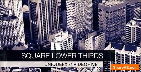 Videohive Square Lower Thirds