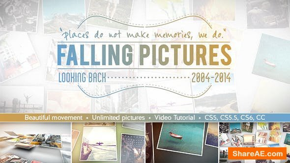 Videohive Falling Pictures