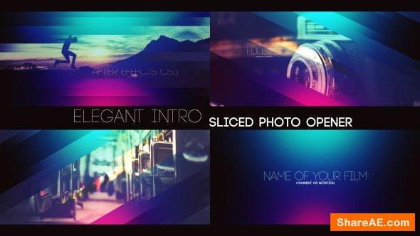 Videohive Elegant Intro - Sliced Photo Opener