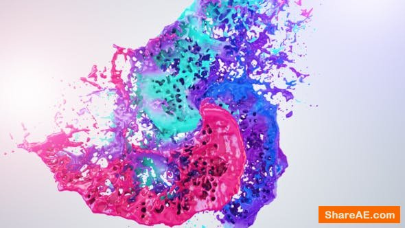 Videohive Colors Of Liquid Logo Reveal